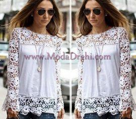 блуза Вели в бяло