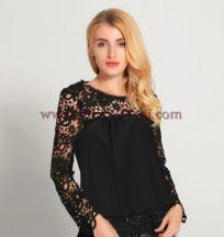 блуза Вели в черно