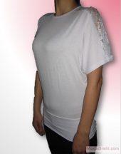 Блуза/Туника Елеганс в бяло