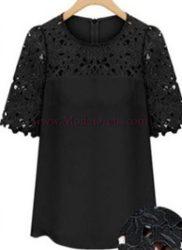 блуза Ками в черно