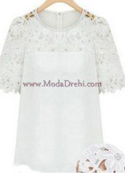 блуза Ками в бяло