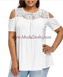 блуза Санита в бяло