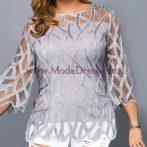официална блуза Валя в сребристо