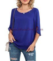 блуза Сарита в синьо