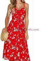рокля Аби в червено
