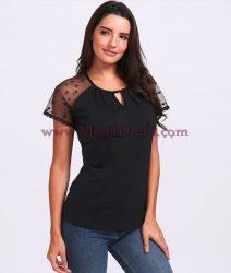 блуза Сузи в черно