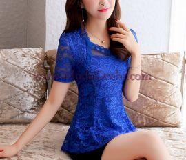 блуза Слай в синьо