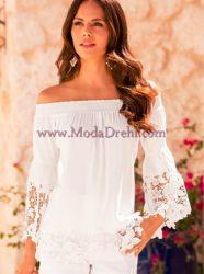 блуза Мила в бяло