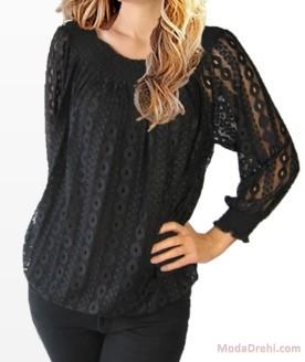 Блуза СтеЙси в черно